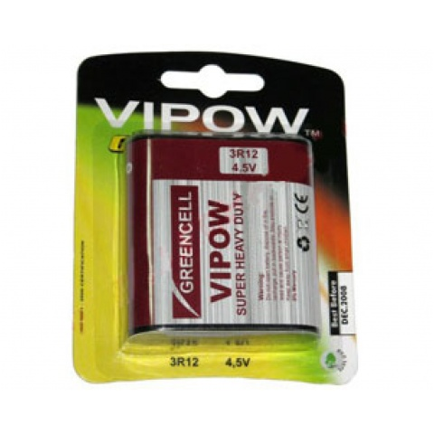 BATERIA VIPOW GREENCELL 3R12 blister