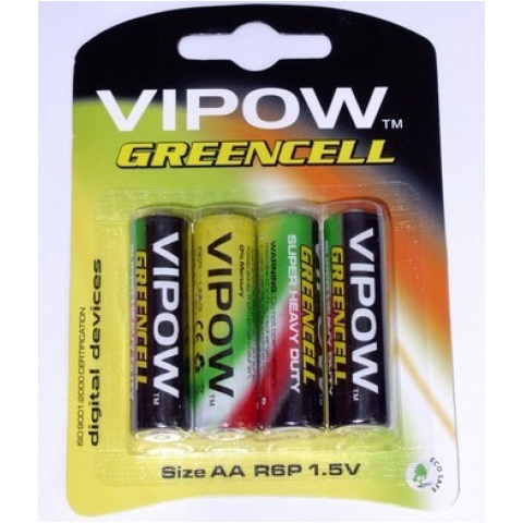 BATERIA VIPOW GREENCELL R06 blister